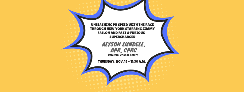 Unleash PR Speed at November Program