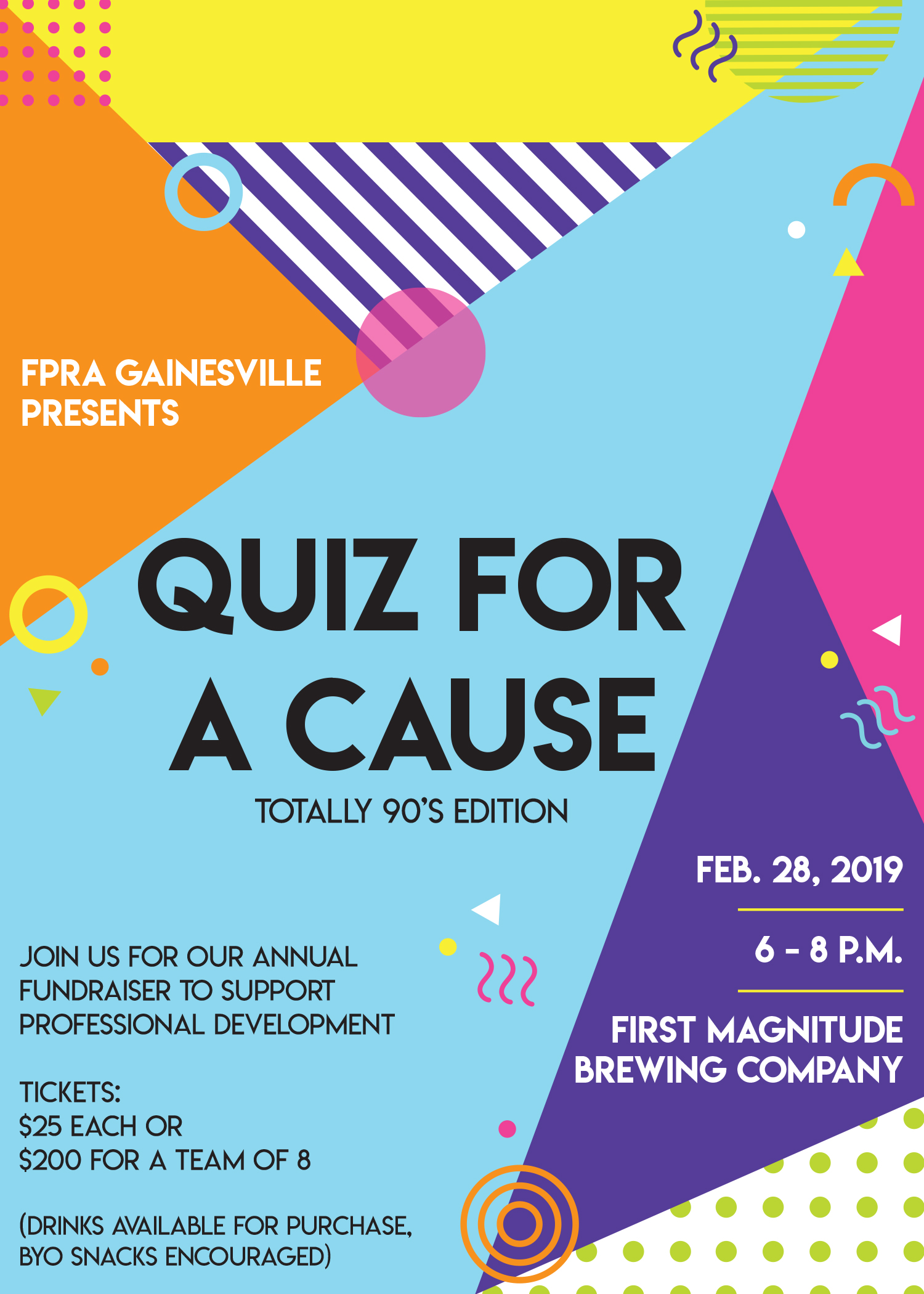 Join us at Quiz for a Cause: '90s Edition
